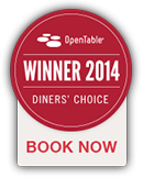 Open Table Diner's Choice 2014 Winner